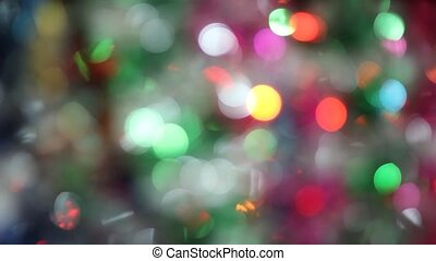 Blurred Christmas lights background