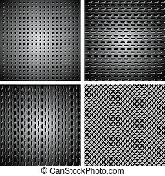 Set of metal background