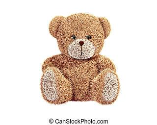 Teddy bear - 3d render of a teddy bear Isolated on white