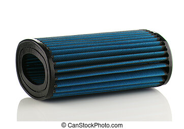 Air filter on white background. Vehicle Modification...