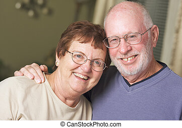 Happy Senior Adult Couple Portrait