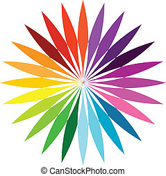 Abstract color flower - Color flower wheel background