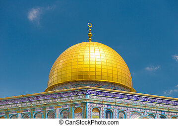 Mosque Dome of the Rock on the Temple Mount, Jerusalem,...