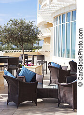 Terrace five star hotel - Outdoor lounge 5 star hotel