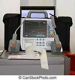 Desfibrilador, monitor