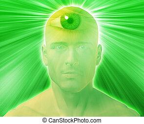 Third eye Man - Man with third eye, psychic supernatural...