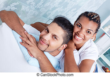 Being together - Image of young guy and his girlfriend...