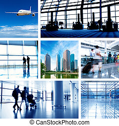 the concept of the business scene - business travel...