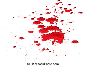 Blood splat - Isolated illustration of a ghastly blood splat