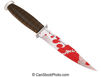 Murder weapon - Illustration of a blood splattered murder...