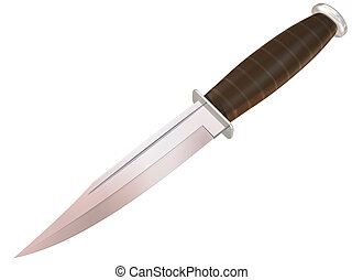 Knife - Isolated illustration of a new hunting knife