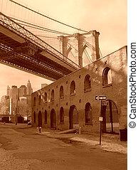 Brooklyn - Underneath the Brooklyn Bridge.