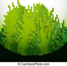 abstract green grass bright vector illustration