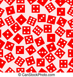 Seamless dice background