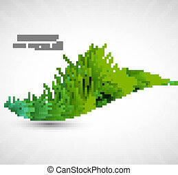 abstract green grass wave vector illustration