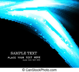 abstract blue colorful wave vector design