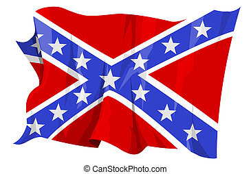 Confederate flag - Computer generated illustration of the...