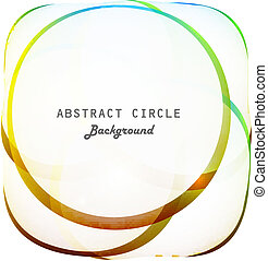 abstract colorfull circle shiny vector background