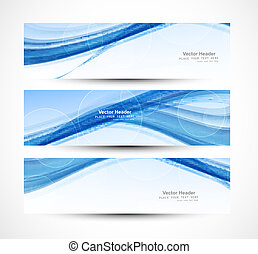 Abstract header blue wave technology vector illustration