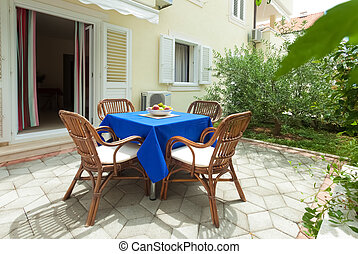 Terrace - Garden terrace of apartment in mediterranean...