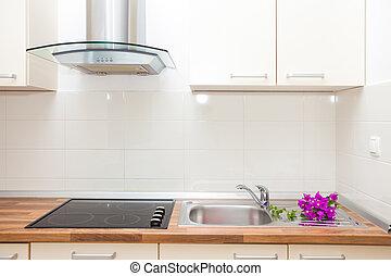 Modern kitchen - Modern and bright kitchen in house interior