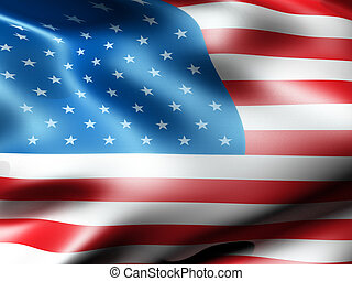 American country flag 3d illustration