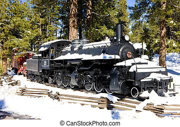 vapor, locomotora, flagstaff, arizona, estados unidos de...