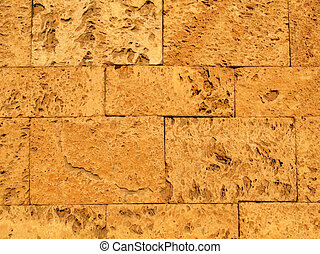 Ancient Stone Blocks Background - Background texture of flat...
