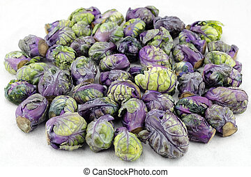 Purple Green Brussels Sprouts