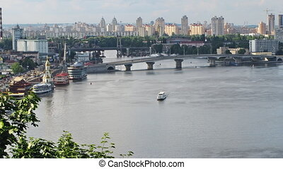 Kiev - Dnieper River time lapse Kiev, Ukraine