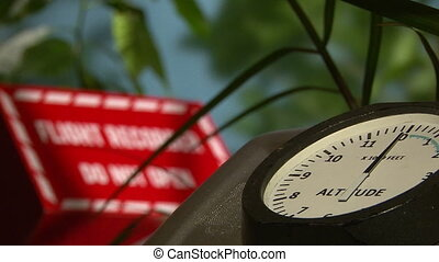 Altimeter, Flight Recorder, shallow depth of field