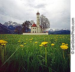 Church in Bavaria - St.Coloman church, Bavaria, Germany