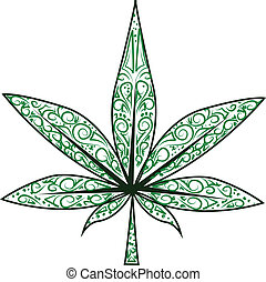 hoja,  marijuana