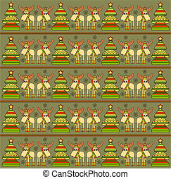 Christmas background with funny elks