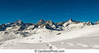 Panorama above Zermatt