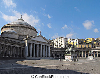 Piazza Plebiscito in Naples - Piazza Plebiscito one of the...