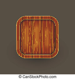 Wooden icon. Vector eps10