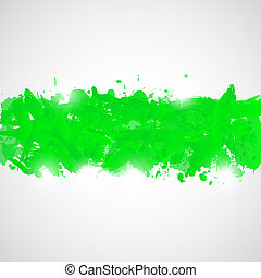 Abstract background with green paint splashes.