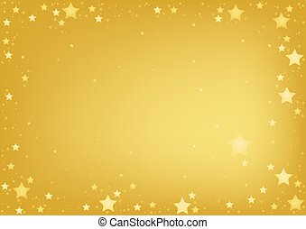 Gold Stars Background - abstract illustration
