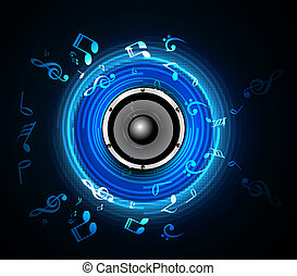 abstract Speakers blue colorful background vector...