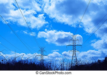 Hydro Towers  - Hydro towers in a country field