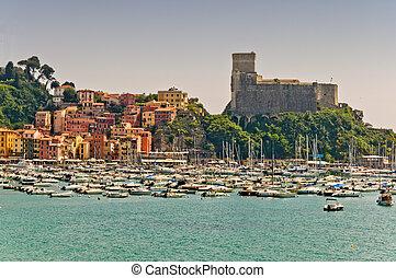 Lerici in Liguria, Italy - Lerici in Liguria with houses,...
