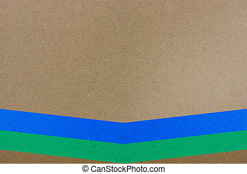Brown background with two colorful lines