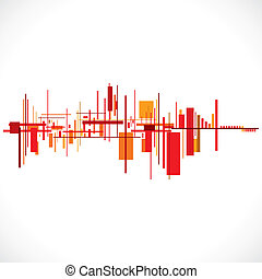 Abstract buildingcityscape background stockvector