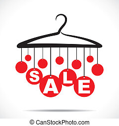red hanging sale text stock vector