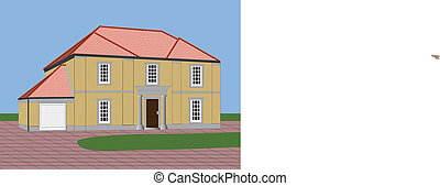 Detached House - A Large Stone Built Detached House with...