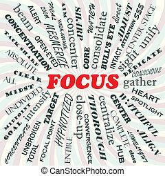 focus - illustration of focus concept