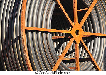 cable spool - a spool of cable