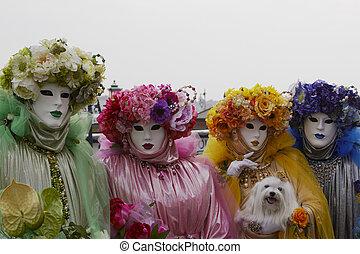 鮮艷, 衣服, 狂歡節, 威尼斯