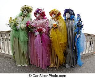 四, 上色, 夫人, 威尼斯, 狂歡節
